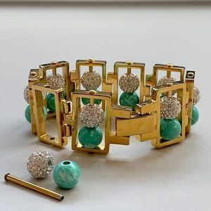 Lele Sadoughi Double Galaxy Lagoon Bracelet